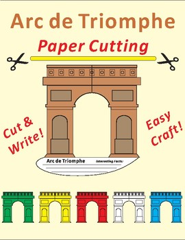 Paper Cutting Craft-Arc de Triomphe
