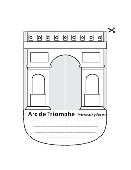 Paper Cutting Craft-Arc de Triomphe