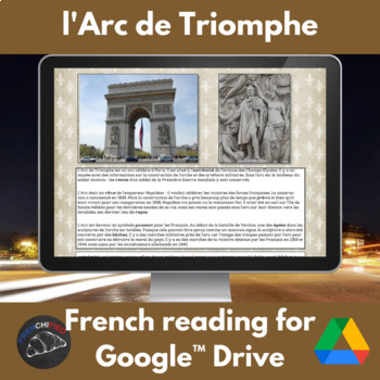 Arc de Triomphe - reading for French students for Google Drive
