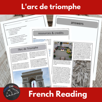Arc de Triomphe - reading for intermediate/advanced French students