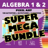 Arcade Algebra SUPER MEGA BUNDLE: Math Pixel Art