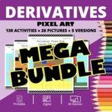 Arcade Calculus Derivatives BUNDLE: Math Pixel Art