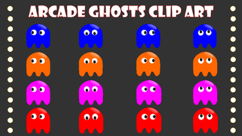 Arcade Ghosts Clip Art