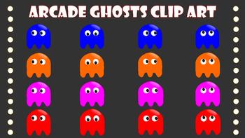 Arcade Ghosts Clip Art