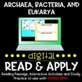 Archaea, Bacteria, Eukarya DIGITAL Read and Apply for Dist