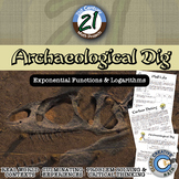Archaeological Dig - Carbon Dating Exponential & Log - 21st Century Math Project