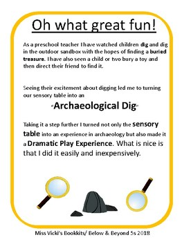 Archaeological Dig  -Sensory Table & Dramatic Play
