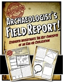 Archaeologist's Field Report for Ancient World History or