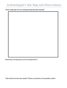 Archaeologist's Artifact Analysis and Site Investigation Worksheets