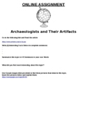Archaeologists and Their Artifacts ONLINE ASSIGNMENT (MICROSOFT)