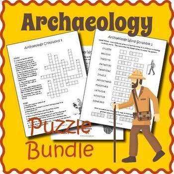 Archaeology Bundle: 5 Vocabulary Puzzles