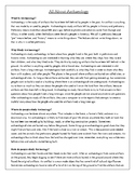 Archaeology Article with Vocabulary Activity, Questions, a