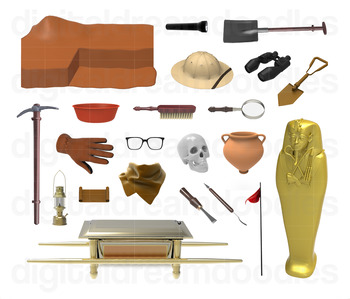Archaeology Clip Art - History Archaeologist Digital Graphics