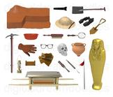 Archaeology Clip Art - History Archaeologist Digital Graphics