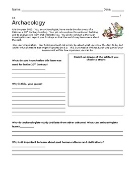 Archaeology Hunt Activity