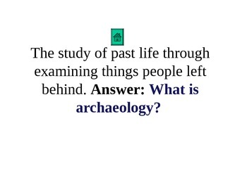 Archaeology Jeopardy