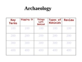 Archaeology Jeopardy