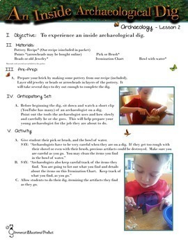 Archaeology Tool Kit for Young Archaeologists