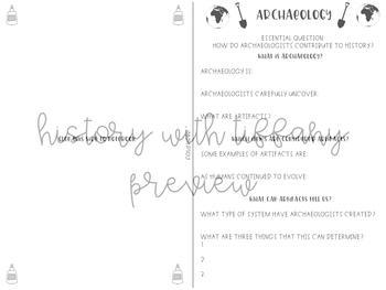 Archaeology PPT and Guided Notes Foldable {great for back to school!}