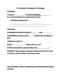 Archaeology & Paleontology Worksheet for Power Point