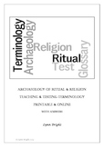 Archaeology Religion & Ritual Terminology Teaching & Testing Printable & Online