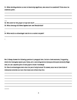 Archaeology Unit Study Guide with Answers