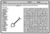Archaeology, Word Search Worksheet, Social Studies No Prep Sub Plan