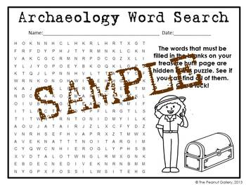 Archaeology Word Search Puzzles