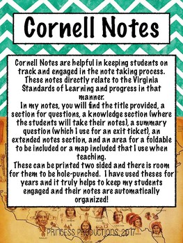 Archaeology and Native American - US History to 1865 Cornell Notes