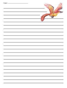 Archaeopteryx Dinosaur Lined Paper