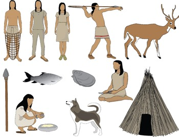 Archaic Native Americans Clip Art