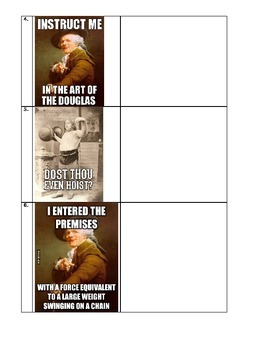Archaic language practice with memes