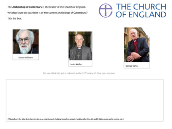Archbishop of Canterbury Activity