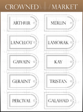 Arched Window Name Tags - Neutral Colors