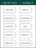 Arched Window Style Name Tags - 22 Colors