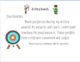 Archery Awards (editable)