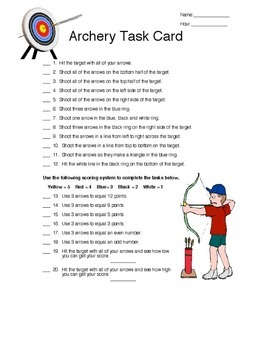 Physical Education - Archery Games