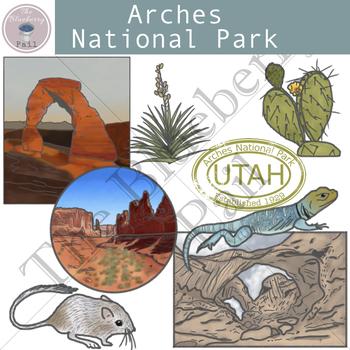 Arches National Park Clip Art Set