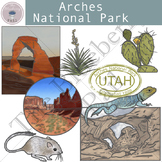 Arches National Park Clip Art Set