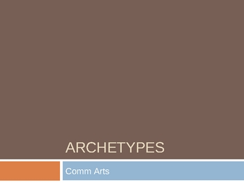 A Lesson on Literary Archetypes PowerPoint