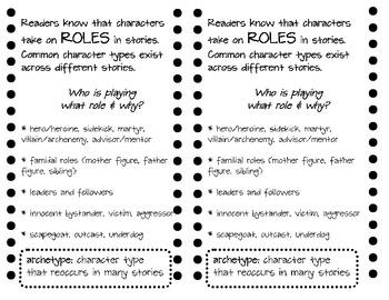 Archetypes Reading Minilesson Handout