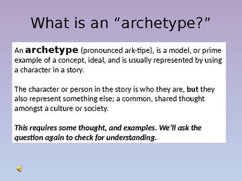 Archetypes: Who's Afraid of the Big Bad Wolf?