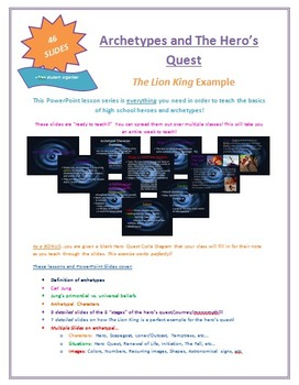 Archetypes and Hero Quest PowerPoint Lessons