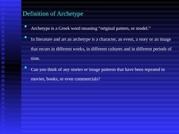 Archetypes introduction and review