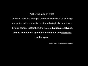 Archeytypes (Characters) Powerpoint FREEBIE