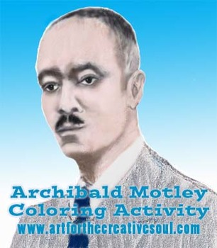 Archibald Motley Coloring Activity