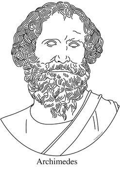 Archimedes Clip Art, Coloring Page, or Mini-Poster