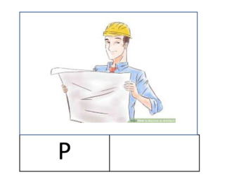 Architect / Engineer Lower case and Upper case printable - when I grow up theme