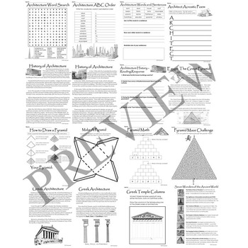 Architecture and Architect No Prep Building Drawing Activity Packet