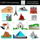Famous Landmarks of the World Clip Art
